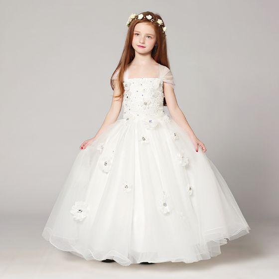 Vestidos de ninas blancos largos