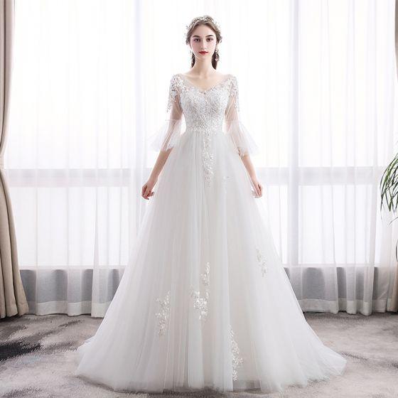 ed595ec1f5db elegant-ivory-wedding-dresses-2019-a-line-princess-v-neck-lace-flower-bell -sleeves-backless-sweep-train-560x560.jpg