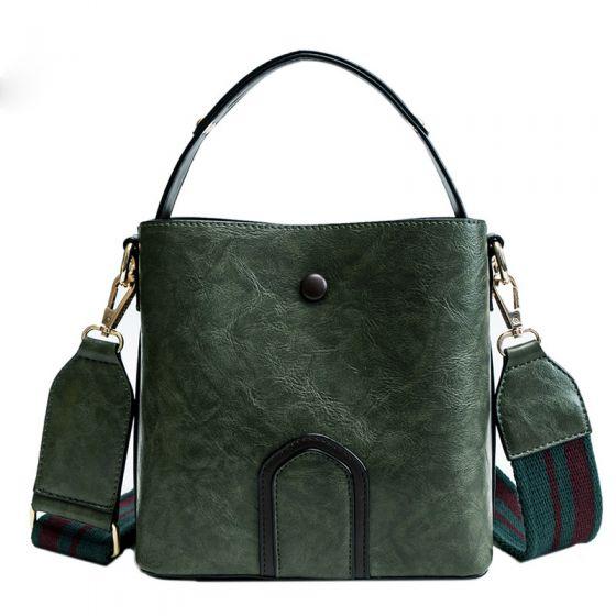Vintage Grün Quadratische Handtasche Umhängetasche 2021 PU Damentaschen