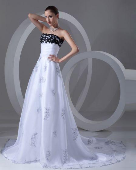 Wzburzyc Organzy Sad Perelki Kolejowe Kwiat Linia Bez Ramiaczek Kobiet Suknie Ślubne Suknia Ślubna Princessa