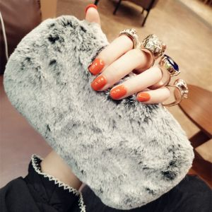 Modern / Fashion Rhinestone Grey Suede Clutch Bags 2018