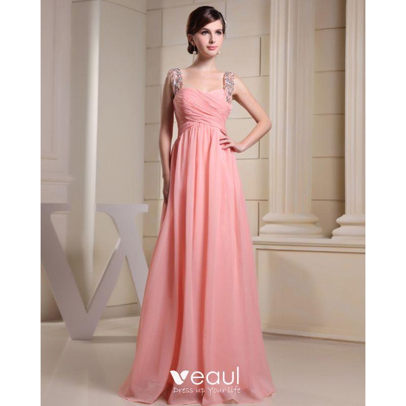 f898ccaa8a6 A Line Silk Evening Dress