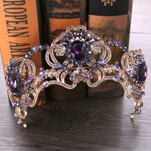 Chic / Beautiful Gold Grape Tiara 2019 Metal Rhinestone Bridal Hair Accessories