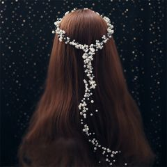 Chic / Beautiful Ivory Pearl Headpieces 2019 Wedding Bridal Hair Accessories