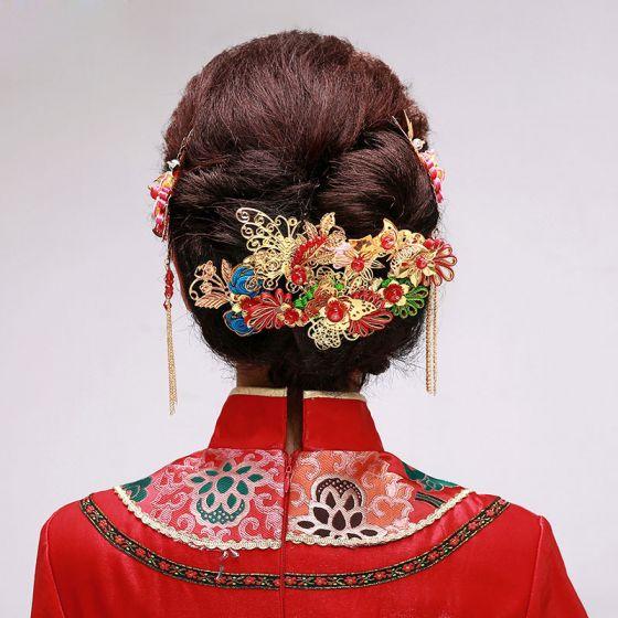 Brautoberteile / Kopf Blume / Haarschmuck Braut / Hochzeitsschmucksachen Zweiteilige