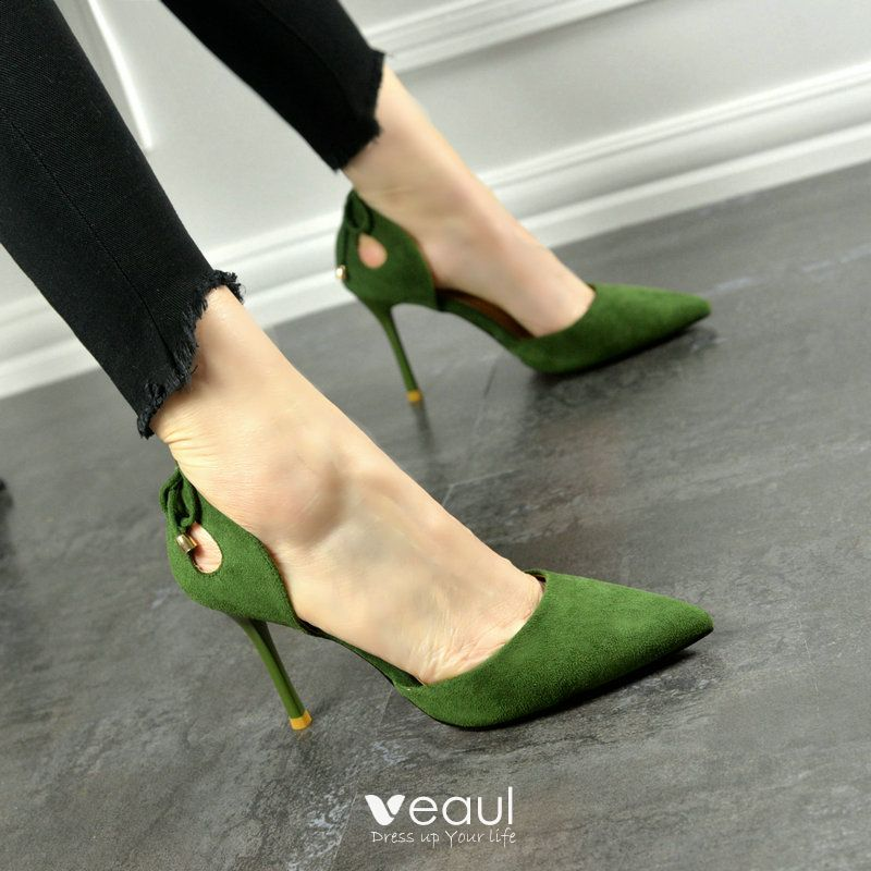 Chic / Beautiful Office Pumps 2017 PU Bow High Heels Pointed Toe Pumps