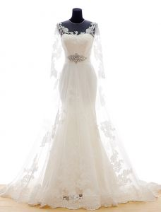2015 Dream Serie · Mermaid Shoulders Scoop Neck 3/4 Sleeves Wedding Dress