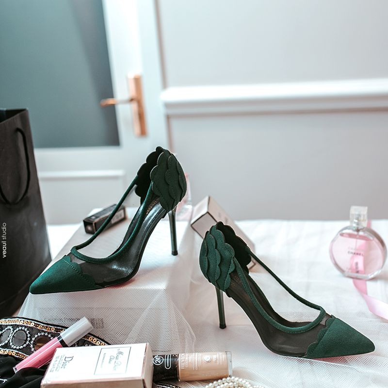 Chic / Beautiful 2017 Green Evening Party PU Summer High Heels Stiletto Heels 10 cm / 4 inch Pumps