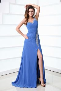 2015 The Best Look One-shoulder Zipper Floor-length long Evening Dresses