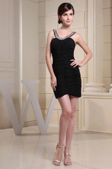 a82b976bf4 Elegantes Correas Rebordear Gasa Del Amor Apretados Rizan El Vestido Sin  Mangas Cóctel Corto