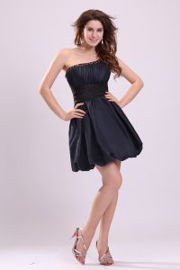 2015 Beading Crystals Draped One-shoulder Dark Navy Party Dress Cocktail Dress