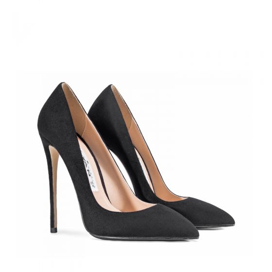Chic / Beautiful Black Office OL Pumps 2020 12 cm Stiletto Heels Pointed Toe Pumps