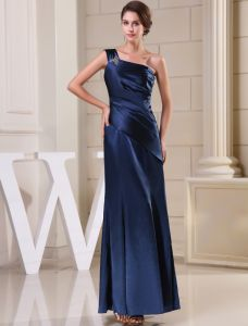 2015 Classic Simple A-line One Shoulder Ruffle Long Evening Dress