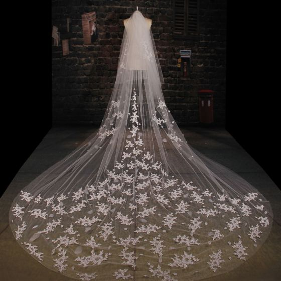 3 5m Tailing Super Long Lace Veil Soft Yarn Material
