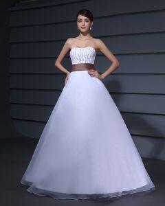 Concepteur Romantique Sans Bretelles Robe De Bal En Taffetas Tulle Des Robes De Bal