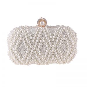 Luxury / Gorgeous White Pearl Clutch Bags 2018