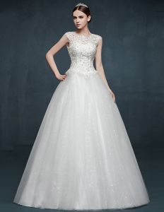 2015 Double Shoulder Fashion Puff Dress Youth Sweet Wedding Dress