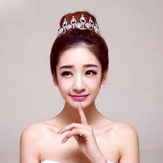 Luxury Big Particles Rhinestone Bridal Headdress / Head Flower / Wedding Hair Accessories / Wedding Jewelry / Tiara