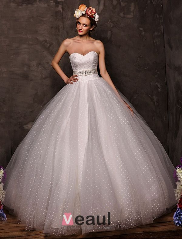 2015 Ball Gown Sweetheart Beading Satin Bow Sash Tulle Wedding Dress With Shawl