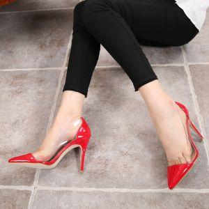 Transparent Rouge Soirée Escarpins 2020 10 cm Talons Aiguilles À Bout Pointu Escarpins