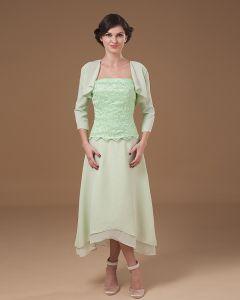 Absorbant Bretelles The Longueur Applique Mere Mousseline De Soie De La Robe De Mariée
