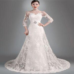 a lijn prinses bruidsjurk
