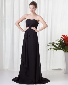 Super Charming Style Strapless Floor Length Pleated Beading Chiffon Bridesmaid Dress