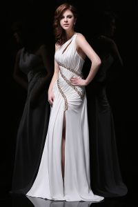 2015 Charming Sheath Beading Sequins One Shoulder Prom Dress