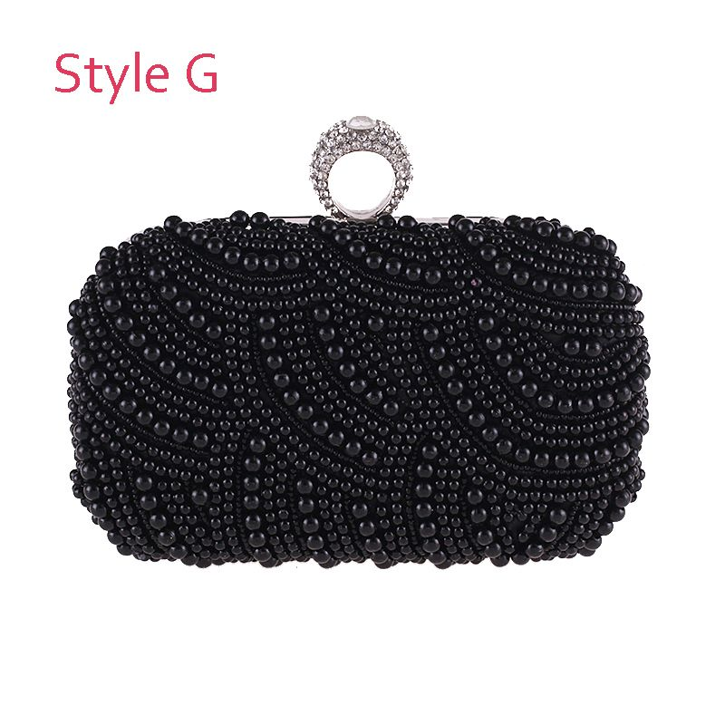 Modern / Fashion Beading Pearl Grey Clutch Bags 2019