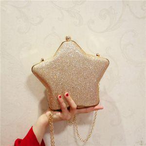 Bling Bling Khaki Glitter Metal Clutch Bags 2018