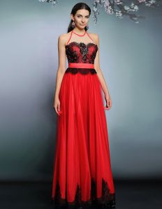 2015 Chiffon Embroidery Beading Tulle Evening Dress