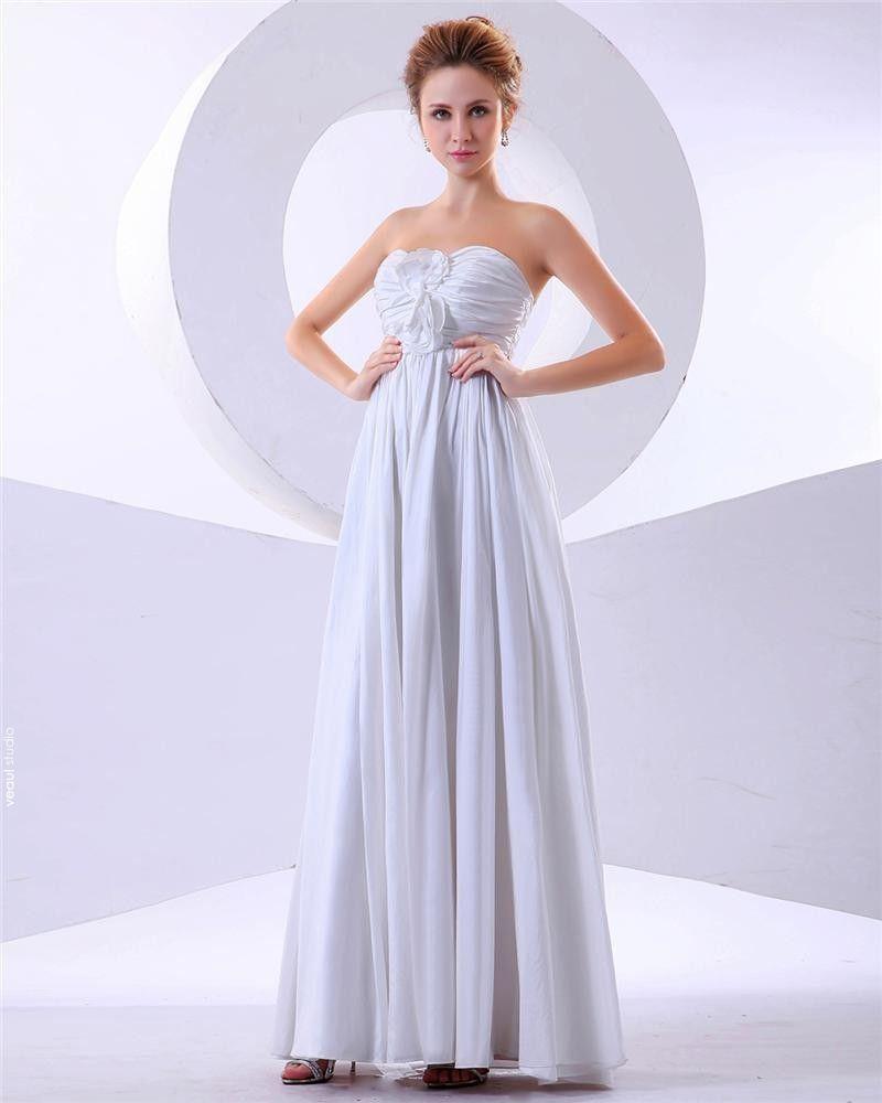 Special Empire Strapless Ruffles Floor-Length Chiffon Bridesmaid Dresses