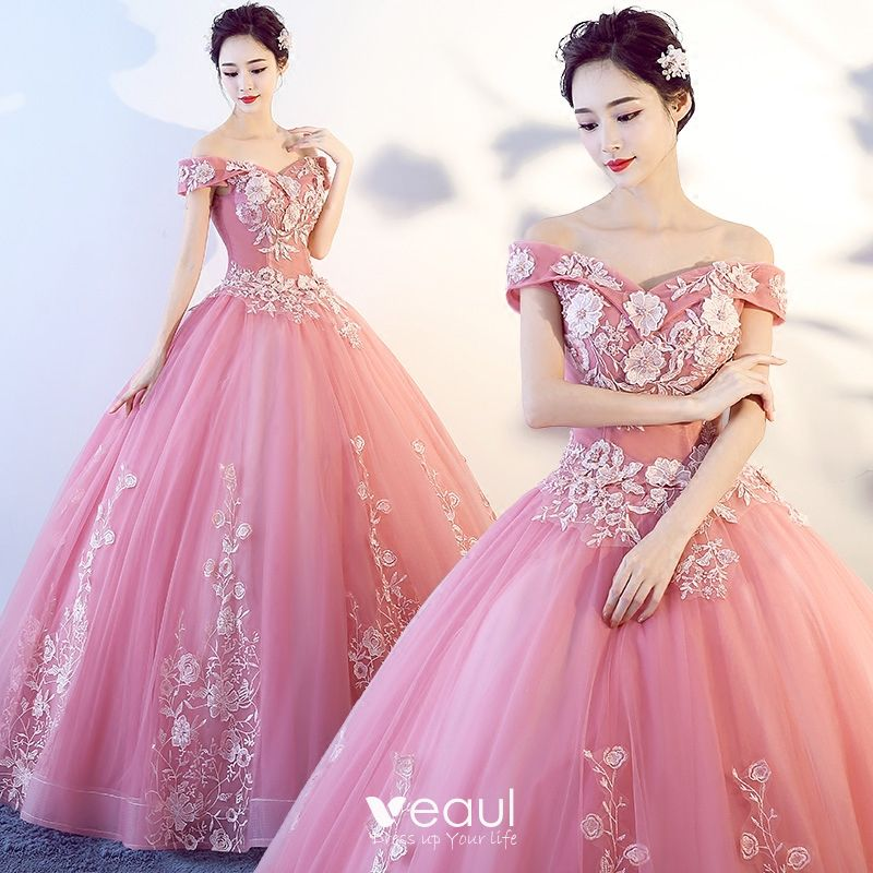 Beautiful Candy Pink Prom Dresses 2017