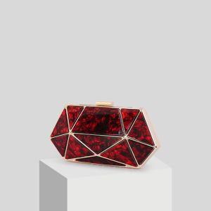 Modern / Fashion Red Acrylic Clutch Bags 2019