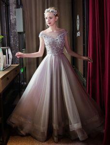Mode Longue Robe De Bal Robe De Soiree Cristal Perlé