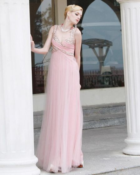 Charmeuse Rhinestone Mesh Beading Sweetheart Ruffle Ankle Length Evening Dresses