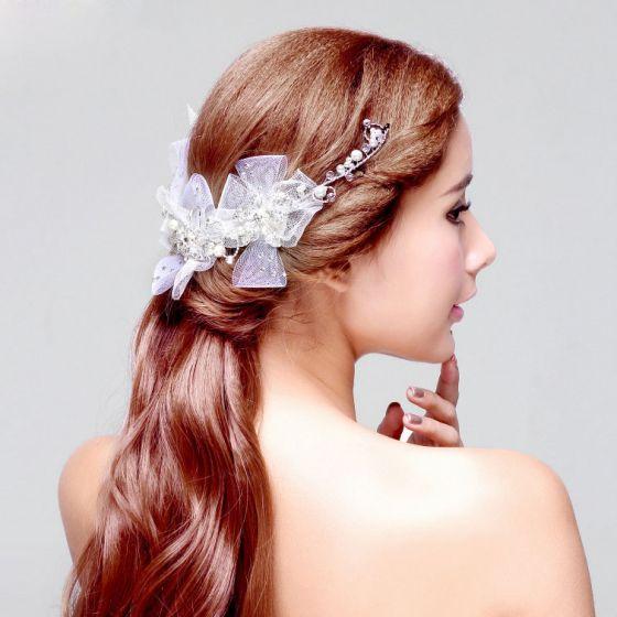 Crystal Pearl Bridal Headpiece Wedding Hair Accessories Wedding Jewelry