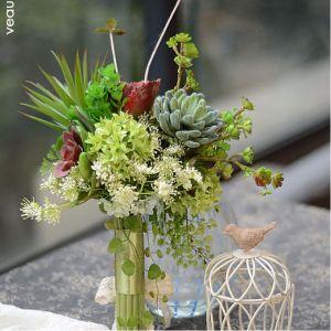 Succulentes Boutique Bouquet De Mariée Tenant Des Fleurs Pour Les Fleurs De Mariage De Parti
