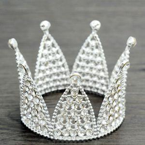 Betaalbare Zilveren Tiara Bruids Haaraccessoires 2020 Metaal Parel Rhinestone Huwelijk Accessoires