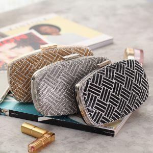 Chic / Beautiful Rhinestone Square Clutch Bags 2020
