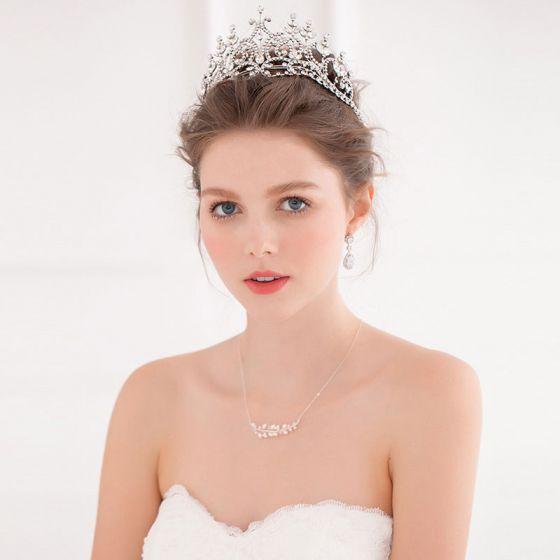 Glänzen Braut Große Krone Tiara / Hochzeit Haarschmuck