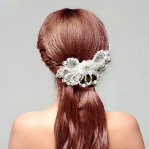 Douce Strass Perle La Coiffure / Fleur Tete / Accessoires De Cheveux De Mariage / Bijoux De Mariage Nuptiale