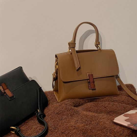 Vintage Quadratische Handtasche Umhängetasche 2021 PU Freizeit Damentaschen
