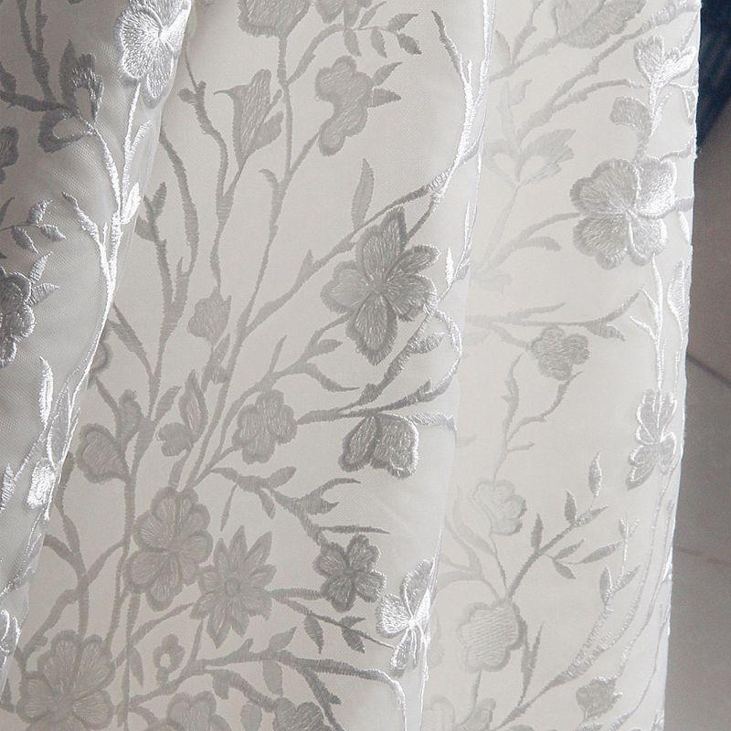 Luxus / Herrlich Champagner Kapelle-Schleppe Hochzeit 2018 Lange Ärmel A Linie Tülle U-Ausschnitt Schnüren Applikationen Rückenfreies Stickerei Brautkleider