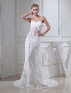2015 Charmante Liebsten Spitze Brautkleid Langen Brautkleid