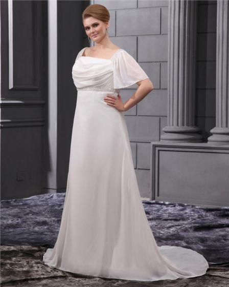 Perlage Court De Ceinture Plus La Taille Robe De Mariage Nuptiale Robe