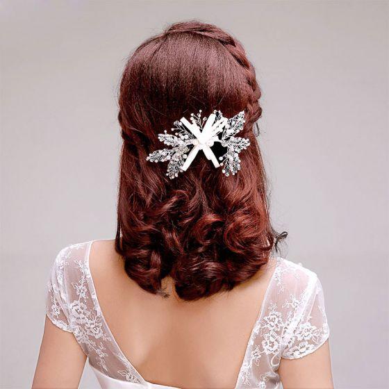 Parel Blad Bruids Hoofdtooi / Head Bloem / Bruiloft Haar Accessoires / Bruiloft Sieraden