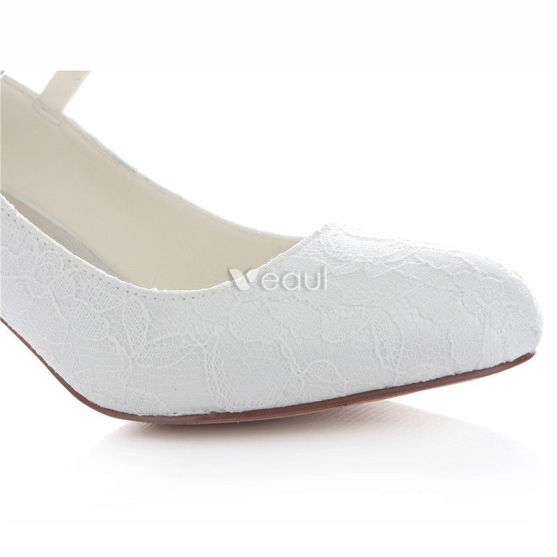 Beautiful Ivory Bridal Shoes Stiletto Heels Satin Pumps With Ankle Strap