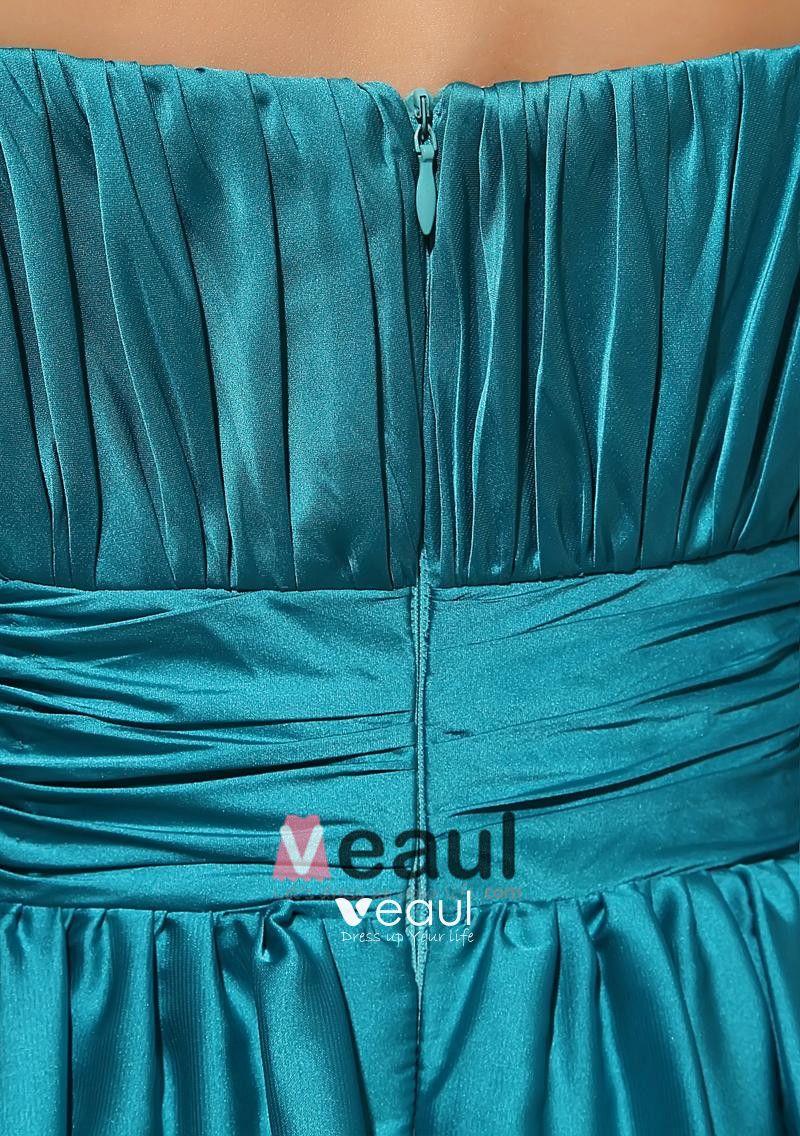 One Shoulder Flower Pleated Floor Length Zipper Sleeveless Silk Charmeuse Woman Bridesmaid Dresses