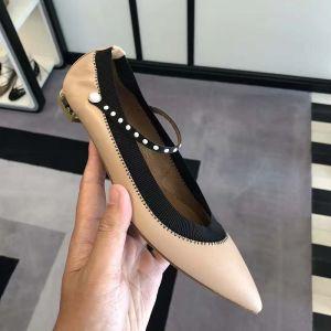 Simple Nues Désinvolte Plate À Bout Pointu Chaussures Femmes 2020